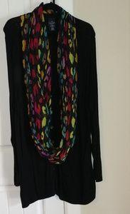 Cardigan infinity scarf combo